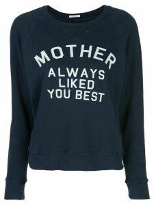 Mother slogan print sweatshirt - Blue