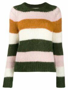 Chinti & Parker stripped knit jumper - Green