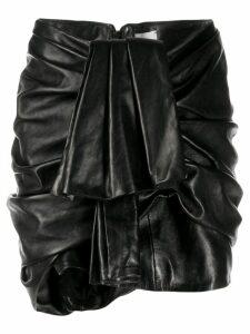 Magda Butrym ruffled short skirt - Black