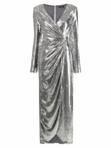 P.A.R.O.S.H. asymmetric long-sleeve dress - Metallic