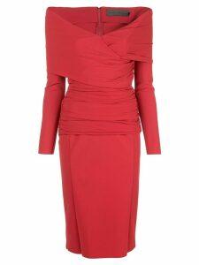 Greta Constantine off the shoulder v-neck dress - Red