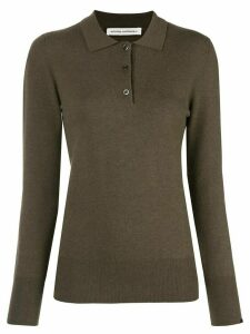 Extreme Cashmere button polo jumper - Brown