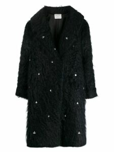 Forte Forte crystal embellished single-breasted coat - Blue