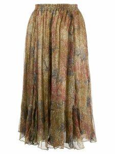 Mes Demoiselles Amaranta printed midi skirt - Neutrals