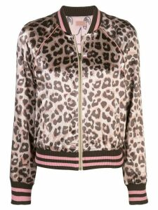 Mother leopard print fitted jacket - Pink