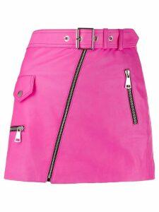 Manokhi belted biker skirt - Pink
