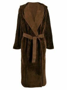 Agnona reversible hooded coat - Brown