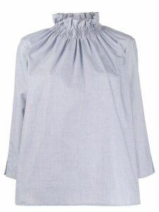 Teija Paita smocked blouse - Grey