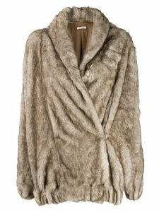 Mes Demoiselles Cheldon faux-fur coat - Neutrals
