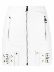 Manokhi buckle-detail biker skirt - White