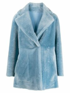 Blancha faux fur coat - Blue