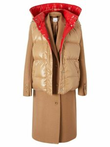 Burberry paneled coat - Brown