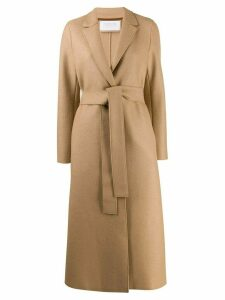 Harris Wharf London belted single-breasted coat - Neutrals