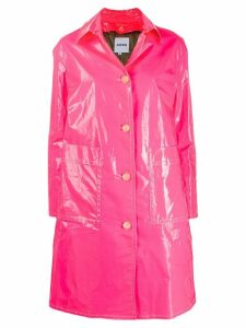 Aspesi laminated single-breasted coat - Pink