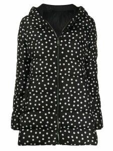 Dolce & Gabbana polka dot print padded coat - Black