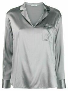 Peserico v-neck metallic-effect blouse - Grey