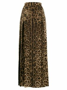 Dolce & Gabbana full leopard print skirt - Brown
