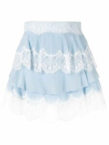 Alice McCall Divine Sister tiered lace skirt - Blue