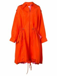 Carolina Herrera oversized silk raincoat - Red