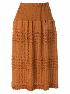 Issey Miyake Cauliflower Pon textured skirt - Brown