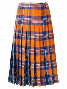 Vivetta tartan print pleated skirt - Orange