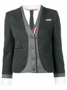 Thom Browne Trompe L'Oeil Suit Sport Coat - Grey