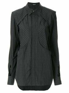 Christian Dada layered check-print skirt - Black