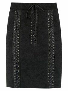 Dolce & Gabbana corset style lace skirt - Black