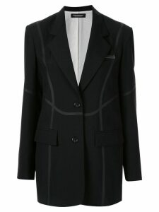 Christian Dada taped tailored jacket - Black