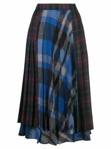 Rentrayage pleated midi skirt - Blue