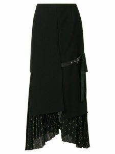 Christian Dada Signature Combined Pleated skirt - Black