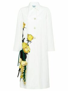 Prada rose print coat - White