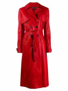 Kwaidan Editions Plongee belted trench coat - Red