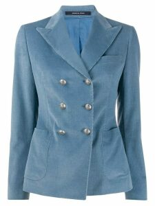 Tagliatore Janise corduroy double-breasted blazer - Blue