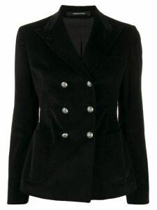Tagliatore Janise corduroy double-breasted blazer - Black