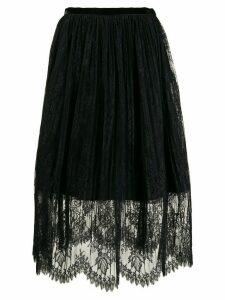 Vivetta layered lace skirt - Black