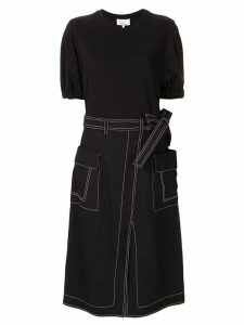 3.1 Phillip Lim wrap T-shirt dress - Black
