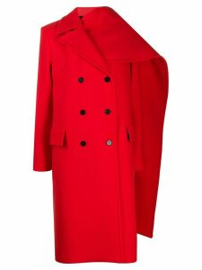 MSGM draped panel coat - Red
