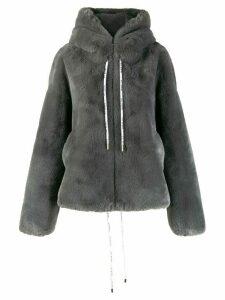 S.W.O.R.D 6.6.44 drawstring hooded coat - Grey