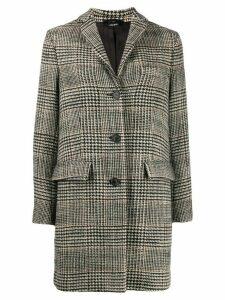 Aspesi checked coat - Black