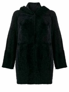 Drome short shearling coat - Blue