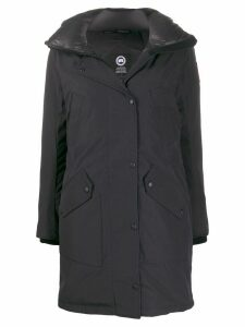 Canada Goose fur-trim hooded parka coat - Black
