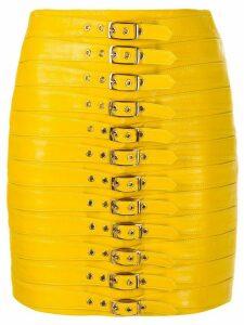 Manokhi Dita buckled mini skirt - Yellow