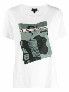 Emporio Armani graphic-print t-shirt - White