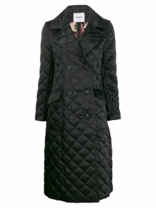 Ainea diamond quilt double-breasted coat - Black