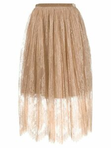 Vivetta layered lace skirt - Neutrals