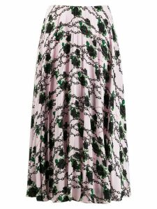 Valentino x Undercover silk pleated skirt - Pink