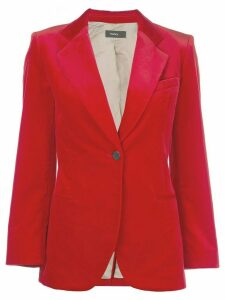 Theory velvet blazer - Red