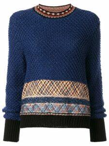 Mame geometric pattern jumper - Blue