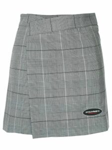 Ground Zero checked wrap front skirt - Grey